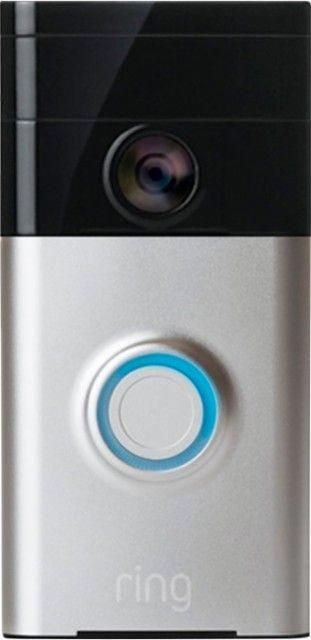 Ring Wi Fi Smart Video Doorbell Satin Nickel Front Zoom Homesecuritysystems Smart Home Smart Home Automation Smart Home Technology