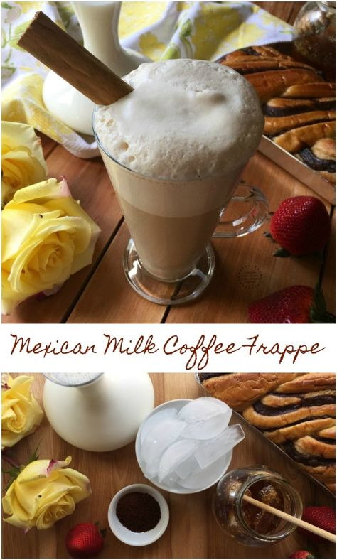 The Mexican Milk Coffee Frappe has the perfect combination of flavors to become a summer favorite for either breakfast or the go to coffee drink for a midday pick me up