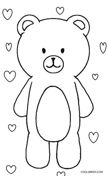 Teddy Bear Coloring Pages Teddy Bear Coloring Pages Free Coloring ... | 700x430