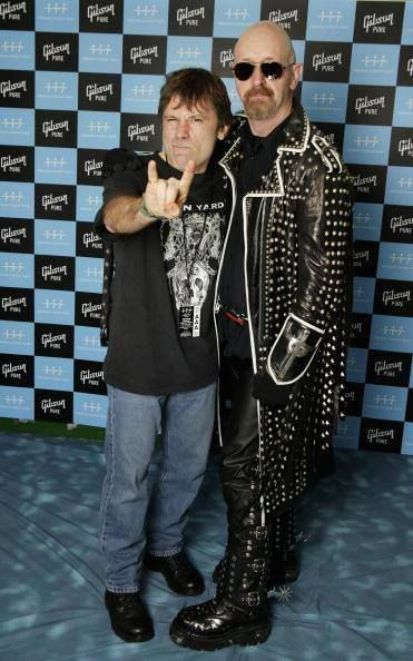Two of my favourite metal singers ever in one photo?! AMAZING! (Rob Halford of Judas Priest & Bruce Dickinson of Iron Maiden)