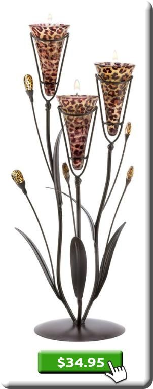Leopard Lily Triple #Candle Tree http://www.firsturl.net/GG2JfQ2