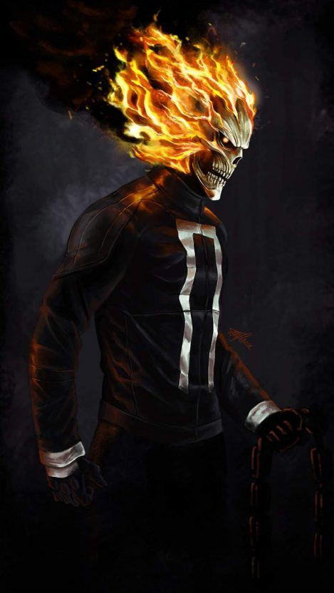 Movies Wallpapers Iphone Wallpapers Ghost Rider Marvel Ghost Rider Wallpaper Ghost Rider