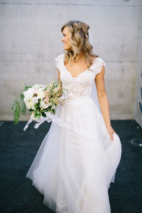 Wedding Gown by Pallas | Photography: Natasja Kremers | See the wedding on SMP: http://www.StyleMePretty.com/australia-weddings/2014/03/10/perth-wedding-at-acqua-viva/