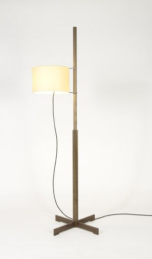 Santacole Floor Lamps Tmm Walnut Beige Shade Fair Jpg Floor Lamp Lamp Simple Lamp