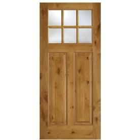 Simpson 1 4 Lite Clear Glass Universal Reversible Brown Wood Slab Solid Core Entry Door Common 36 In X 80 In Actual Wood Slab