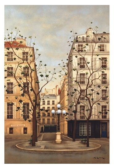 Andre Renoux Place Furstenberg With Images Paris Painting
