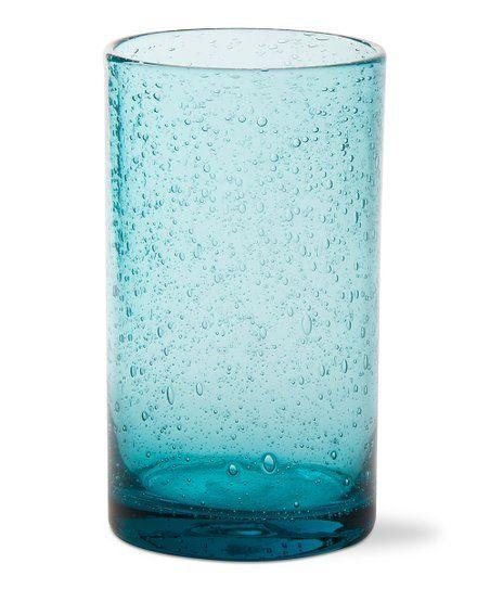 Tag Aqua Bubble Glass Tumbler Zulily Bubble Glass Glass