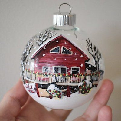 Our Favorite Holiday Home Decor House Ornaments Personalized Christmas Ornaments Glass Ball Ornaments