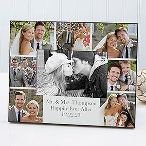 Personalized Wedding Photo Printed Picture Frame Wedding Photo Collage Horizontal In 2020 Wedding Picture Frames Framed Wedding Photos Wedding Photo Collage