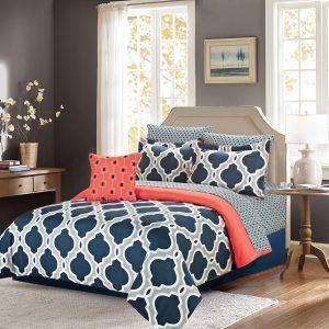 Navy Blue And Coral Bedroom Ideas Coral Bedroom Decor Coral Bedroom Comforter Bedding Sets