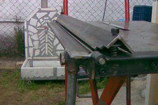 Diy Sheet Metal Bender Brake With Images Metal Bender Sheet Metal Bender Sheet Metal Brake