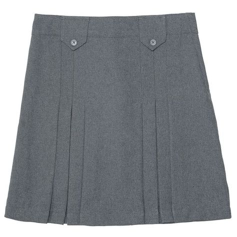 French Toast Girls Front-Pleated Skirt with Tabs