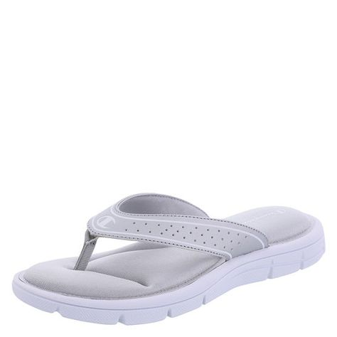 c63d092953a  17 Find renewed faith in the comfort of flip flops with this gem from  Champion. It features padded mesh lining with a cushioned memory foam  footbed