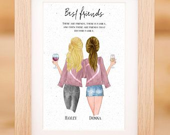 Best Friend Gift Best Friends Wall Art Gift For Her Etsy Personalized Best Friend Gifts Sisters Wall Art Best Friends Sister