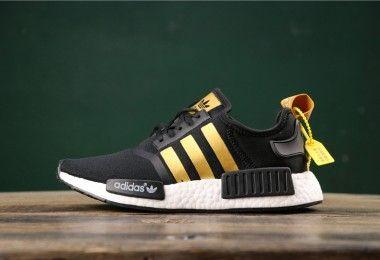 Adidas NMD R1 Metallic Gold Stripes