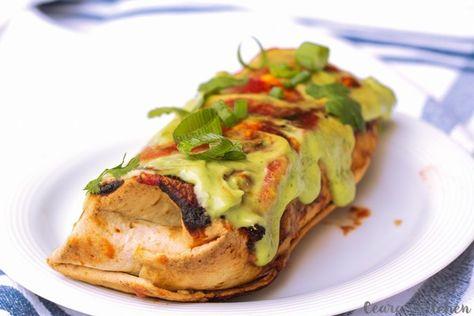 White Bean and Avocado Baked Burritos - Easy Vegetarian Recipes for Dinner - Photos
