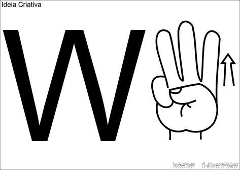 Alfabeto De Parede Em Libras Para Imprimir Com Imagens Libra