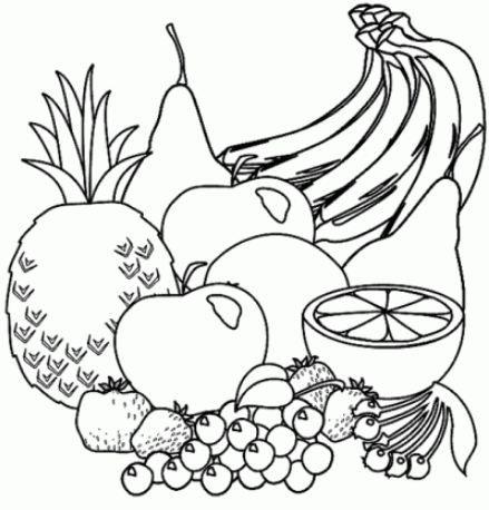 Frutas Y Verduras Para Colorear Riscos Para Pintura Pintura Em