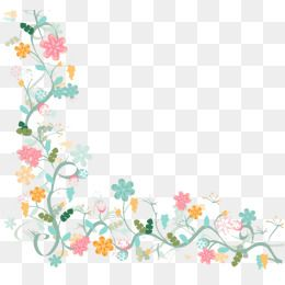 2020 的 Watercolor Floral Border Background Vector Material 主题