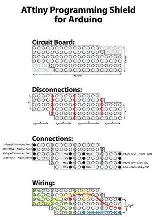 ATtiny Programming Shield for Arduino | Ardunio projects | Arduino
