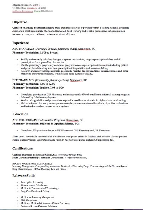 Echocardiographer Resume Example - http\/\/resumesdesign - resume examples for pharmacy technician