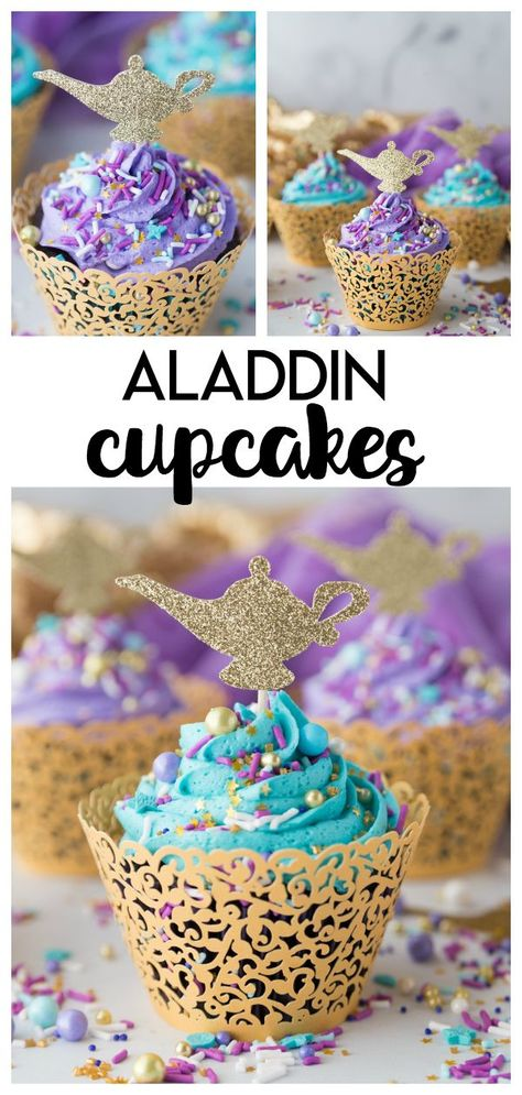 DIY Aladdin Cupcakes: a fun and simple diy chocolate cupcake craft perfect to celebrate any Princess Jasmine or Aladdin party! DIY Aladdin Cupcakes: a fun and simple diy chocolate cupcake craft perfect to celebrate any Princess Jasmine or Aladdin party! Jasmine Birthday Cake, Aladdin Birthday Party, Aladdin Party, 6th Birthday Parties, Diy Birthday Food, Disney Themed Party, Princess Birthday Cupcakes, Disney Princess Cupcakes, 7th Birthday Cakes