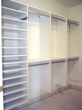 Master Bedroom Closet Ideas buckingham, apex ~ master bathroom remodel - traditional - closet