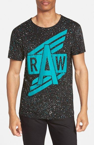 cheaper special section save off G-Star Raw 'Duo' Splatter Print Graphic T-Shirt - that ...