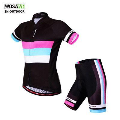 Shorts Set Female Bicycle Clothes Kit Women/'s Bike Cycle Jersey Padded Bib