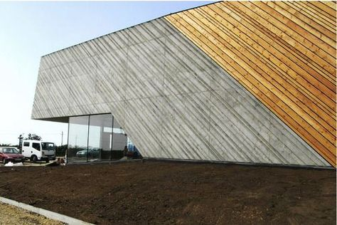 Concrete and wood facade | Hof Mix | Pinterest | A3 | Pinterest | Wood  facade and Faades