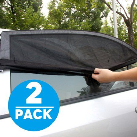TSV 2-pack Car SUV Premium Rear Side Window Sun Visor Shade Mesh Cover  Shield Sunshade UV Protector 7e3e0192738