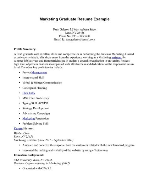 Resume Sample For Fresh Graduate -    jobresumesample 978 - fresh graduate resume