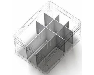 Eurobox System Tauro Abtrenner 55 4 Cm X 11 Cm Weiss