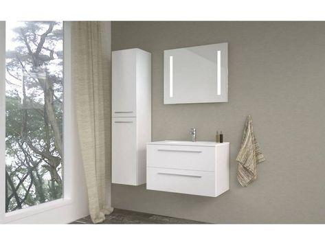 Badezimmermobel Set At Rajkot 3 Teilig Inkl Waschtisch Waschbecken Farbe Weiss Glanzend Badezimmermobel Set Waschtisch Badezimmer Mobel