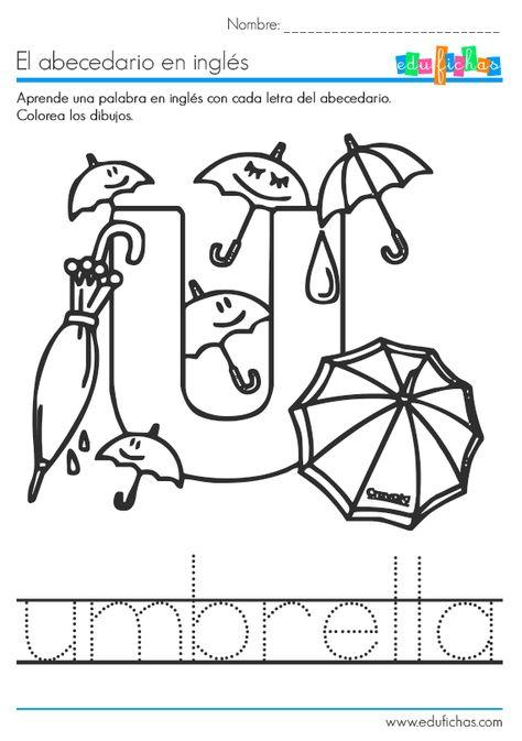 Descarga Nuestro Cuadernillo Del Abecedario En Inglés En Pdf Gratis Con Una Palabra De Vocabulario Por Vocales En Ingles Abecedario Inglés Cuaderno De Ingles