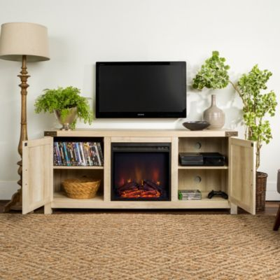 Walker Edison 58 Fireplace Tv Stand Grey Tv Stand Tv Stand With Storage