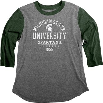 Girls Baseball Tee Embroidered Michigan Raglan Shirt