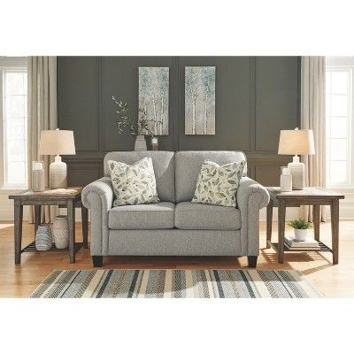 Alandari Loveseat Gray Signature Design By Ashley Love Seat
