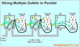 How To Wire Multiple Outlet In Parallel Electrical Wiring Diagram Home Electrical Wiring Electrical Wiring Outlet Wiring
