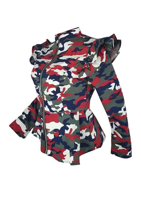 Details Material Polyester Style Casual Clothing Length Regular Sleeve Length Long Sleeve Size In Us Sleev Camouflage Print Jacket Camo Fashion Shyfull