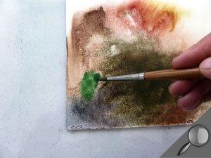 Acrylique Realiser Un Rapide Crayonne Du Sujet Etape 1