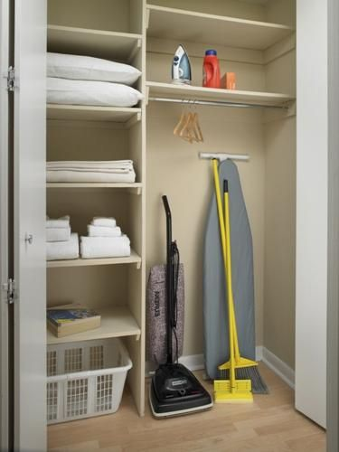 Coat Closet Makeover Idea More Storage And A Place For The Vac Need Other Side Coats Tho