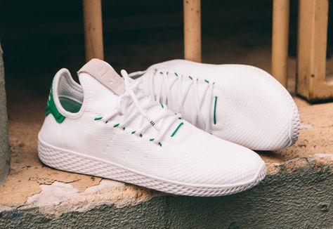 best loved 210a1 af93a Chaussure Adidas Pharrell Tennis Hu White Green (1)