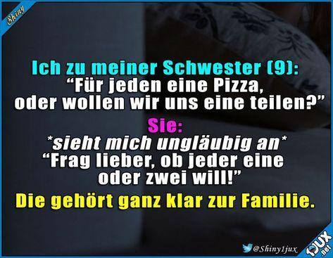Die gleichen Gene :) #Familie #Lustig #Pizzaliebe # Sprüche #Humor - #D   - Kochen -