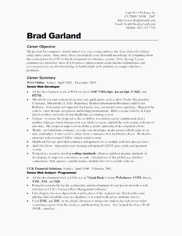 68 Awesome Gallery Of Employment Objective On Resume Examples