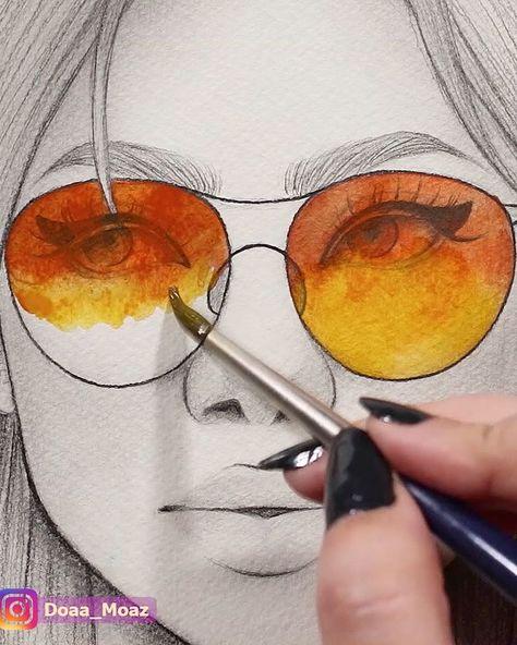 Satisfying watercolor video ♥ - #art #Satisfying #Video #Watercolor