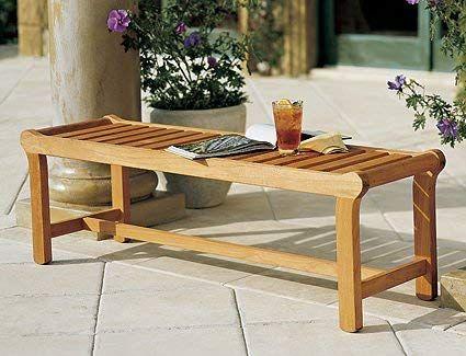 Enjoyable Teak Wood Outdoor Backless Bench Outdoor Bench Teak Machost Co Dining Chair Design Ideas Machostcouk