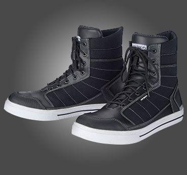 White//Black, Size 9 Cortech Mens Vice WP Riding Shoe 1 Pack