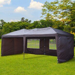 Symple Stuff Hartin 10 Ft W X 10 Ft D Steel Pop Up Canopy Wayfair Patio Gazebo Gazebo Canopy Tent