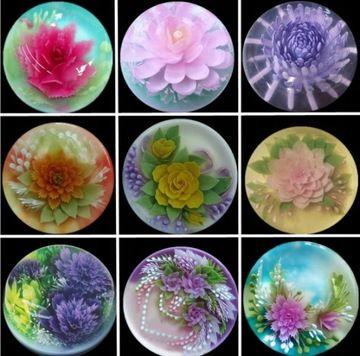 Zestaw Strzykawka Stalowki Do Galaretki Kwiaty 3d Jelly Cake 3d Jelly Cake Jelly Flower